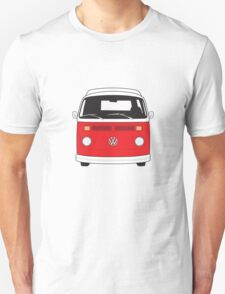 Late Bay VW Camper Red Front T-Shirt