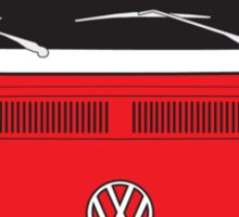 Late Bay VW Camper Red Front Sticker