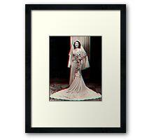 '1940's Bride' 3D Framed Print