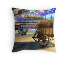 Wagons of Color Throw Pillow