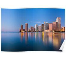 Miami Skyline at Sunrise Poster