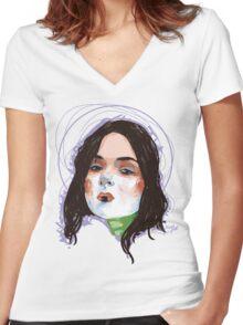 Heart Starter Women's Fitted V-Neck T-Shirt