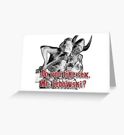 Big lebowski Greeting Card