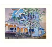 Springwater Inn, Saratoga Springs, NY Art Print