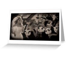 Bubbling Bridesmaids Greeting Card