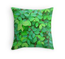 EVE'S GREEN LEAVES - PENCIL SKIRT Throw Pillow