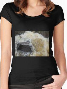 Water Over The Weir, Cataract Gorge, Launceston, Tasmania, Australia. Women's Fitted Scoop T-Shirt