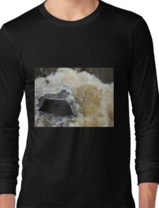 Water Over The Weir, Cataract Gorge, Launceston, Tasmania, Australia. Long Sleeve T-Shirt