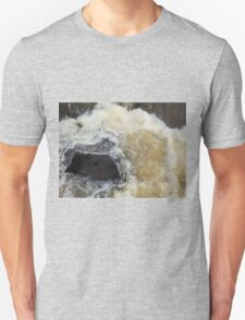 Water Over The Weir, Cataract Gorge, Launceston, Tasmania, Australia. Unisex T-Shirt