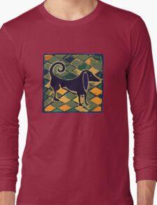 DOG KITCHEN CERAMIC TILES FLOOR Long Sleeve T-Shirt