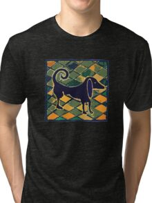 DOG KITCHEN CERAMIC TILES FLOOR Tri-blend T-Shirt