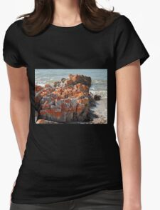 Rocky Cape Rocks, Northern Tasmania, Australia. Womens Fitted T-Shirt