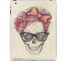 Hipster Girl is Dead iPad Case/Skin