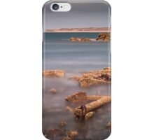 Barnacle covered anchor Rhossili bay iPhone Case/Skin