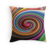 CRAYON MELTDOWN Throw Pillow