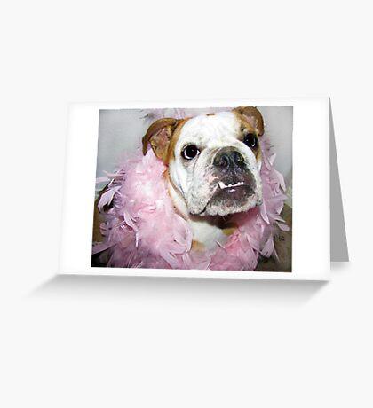Pink boa Greeting Card