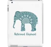 Mandala patterned vector elephant. Indian motives iPad Case/Skin