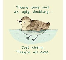 Ugly Duckling Photographic Print