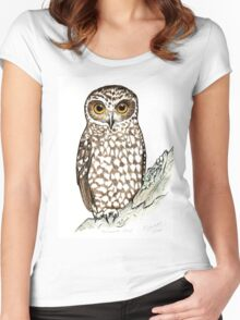 Boobook Owl Women's Fitted Scoop T-Shirt