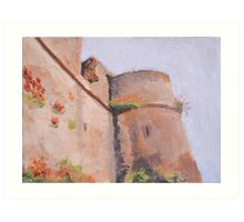 Argenton-Chateau, France Ramparts Art Print