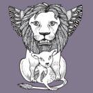 Lion and Lamb Tee by Anita Inverarity