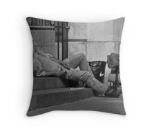Chillin in Covent Garden Throw Pillow