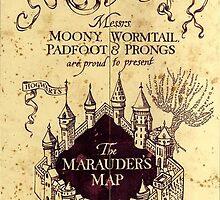 Map Harry potter castle, The Marauders Map by BotokPetet