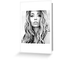 Miley Cyrus Greeting Card