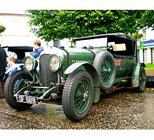 Racing Bentley Photographic Print