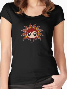 Flaming Ebony Women's Fitted Scoop T-Shirt