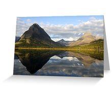 Swiftcurrent lake mirror Greeting Card