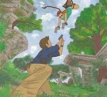 cross over Tomb Raider x Uncharted by ireneaimee