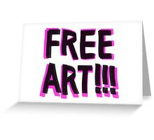 Free art Greeting Card