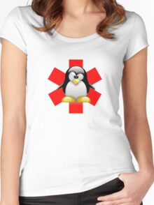 LINUX TUX PENGUIN HOSPITAL Women's Fitted Scoop T-Shirt