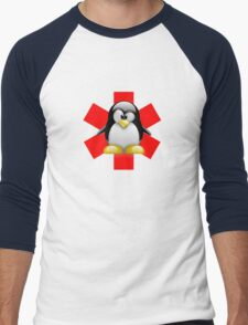 LINUX TUX PENGUIN HOSPITAL Men's Baseball ¾ T-Shirt