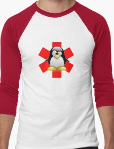 LINUX TUX PENGUIN HOSPITAL Men's Baseball ¾ T-Shirt