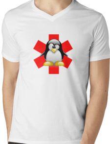 LINUX TUX PENGUIN HOSPITAL Mens V-Neck T-Shirt