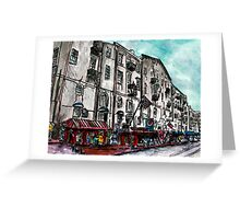 Savannah Georgia USA watercolour  and ink cityscape drawing Greeting Card