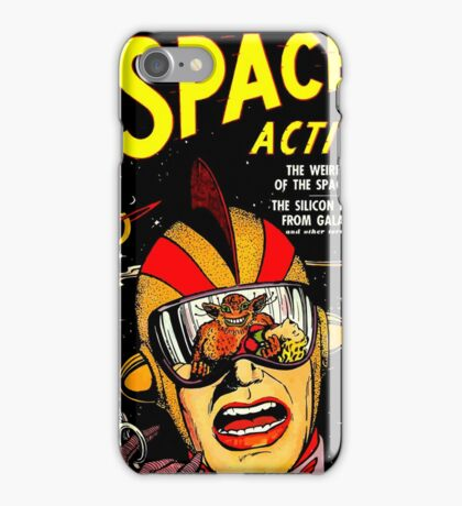Retro Comic Cover - SPACE ACTION - Vintage Sci-fi cover iPhone Case/Skin