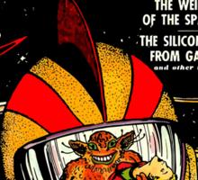 Retro Comic Cover - SPACE ACTION - Vintage Sci-fi cover Sticker