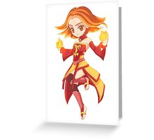 Lina Chibi Greeting Card