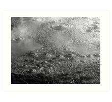 Bubbling Mud Art Print