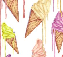 Melted ice creams Sticker