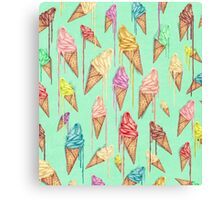 Melted ice creams Canvas Print