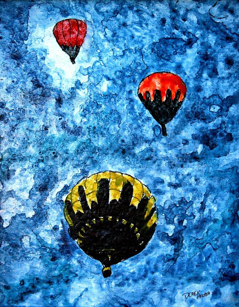 Quot Hot Air Balloon Watercolour Painting Modern Art Print Quot By