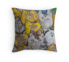 cool cats Throw Pillow