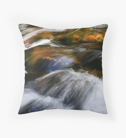 Fast Water Throw Pillow