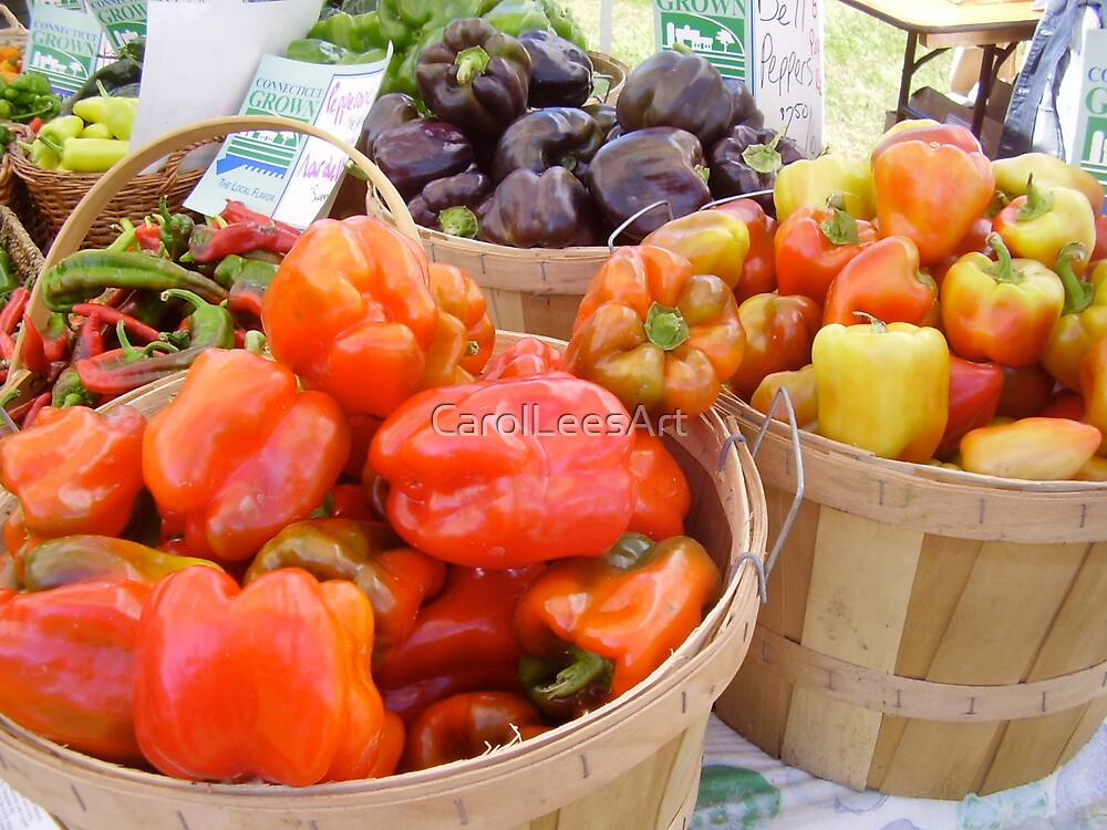 Baskets of organic health by CarolLeesArt