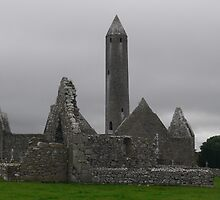 Kilmacduagh-Monastic site & Round Tower[Please View Larger] by Pat Duggan