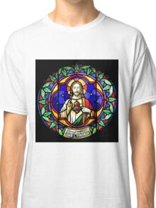 Jesus Scared Heart Stained Glass Classic T-Shirt